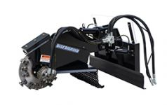 Swing arm stump grinder web thumb
