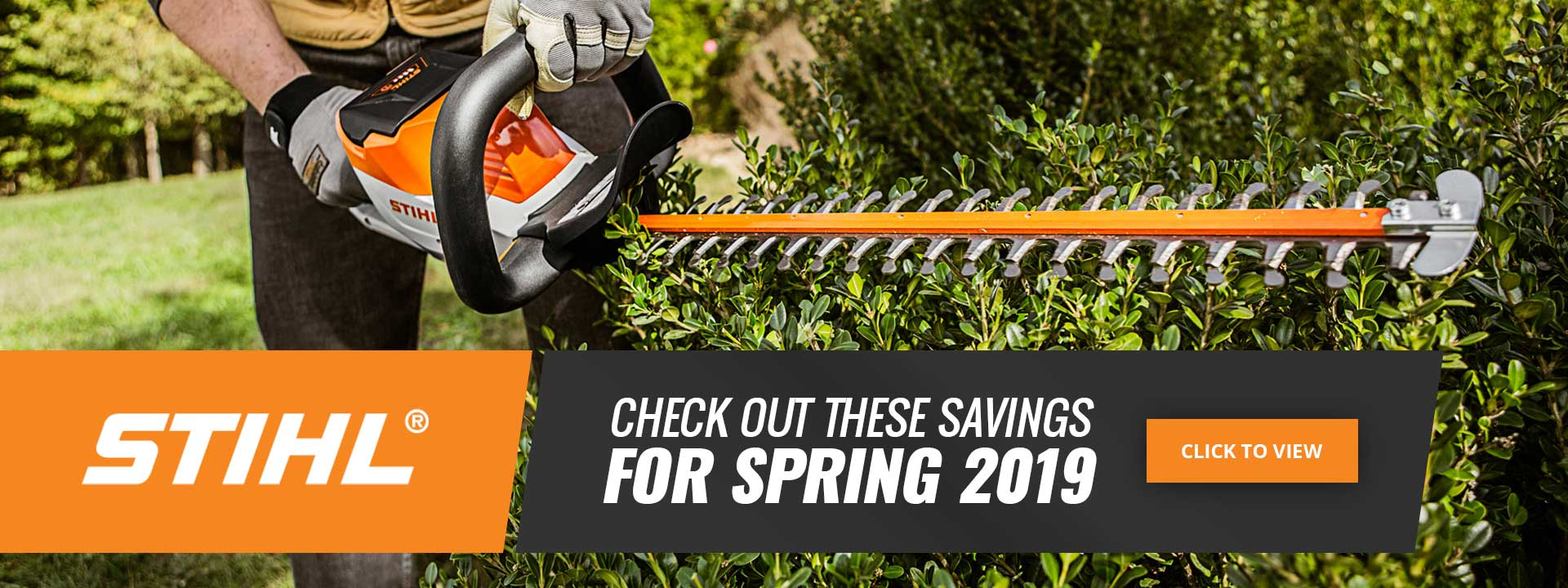 Stihl check out these savings for spring 2019